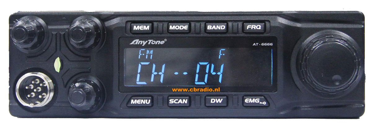 www.cbradio.nl: Pictures and Specifications Anytone AT-6666 Export Radio